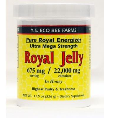 YS Organics Organic Royal Jelly in Honey - Pure Royal Energizer - 11.5 oz.