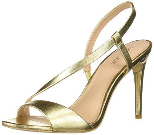 Rachel Zoe Women's Nina Heeled Sandal, Light Gold, 7 M US