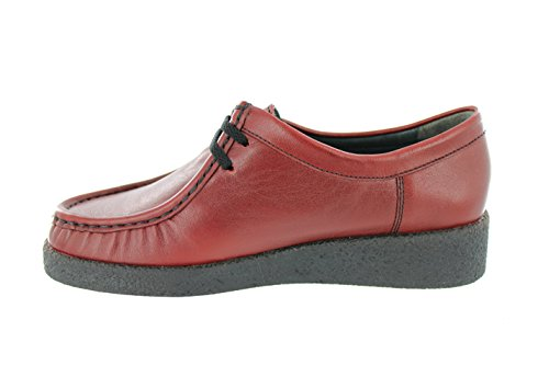 Leather Lace Red Shoe Christy Woman Mephisto Black 4800 7ITn51wq