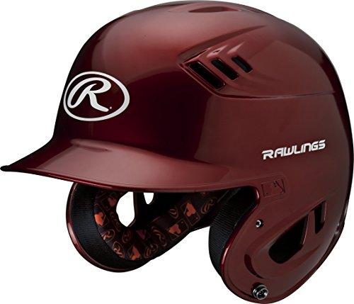 Rawlings R16 Series Metallic Batting Helmet, Cardinal, (Cardinal Batting Helmet)