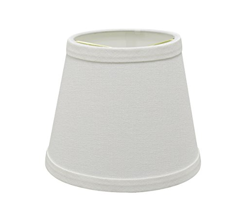 Aspen Creative 32862-2 Small Hardback Empire Shape Chandelier Clip-On Lamp Shade Set (2 Pack), Transitional Design in White, 5'' Bottom Width (4'' x 6'' x 5'') by Aspen Creative (Image #2)