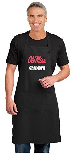 Broad Bay Ole Miss Grandpa Apron Large Size University of Mississippi Grandpa Gift for Men Man Him