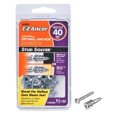 (E-Z Ancor 1 in. Hollow Door and Drywall Anchors (25-Pack) )