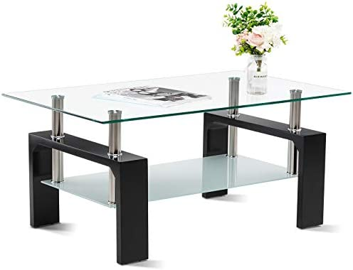 Smile Back Glass Coffee Table 39.4 Coffee Table