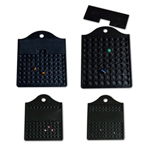 4 Piece Acrylic Bead Counting Set (Black) by Faerynicethings