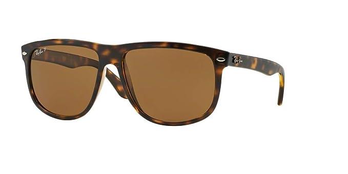 0e476fa8f9c Ray-Ban RB4147 710 57 60M Light Havana Brown Crystal Polarized Sunglasses   Amazon.co.uk  Clothing