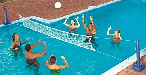 (Swimline 9186 Cross Inground Swimming Pool Fun Volleyball Net Game Water Set __#positivepoolwholesale)