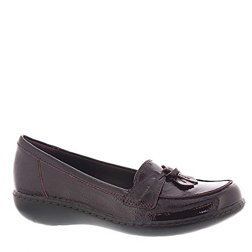 Clarks Women's Ashland Bubble Burgundy Patent Leather 8 B US (Kids Shoes Clarks)