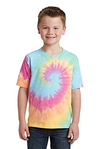 Port & Company - Youth Tie-Dye Tee. PC147Y Pastel Rainbow XL