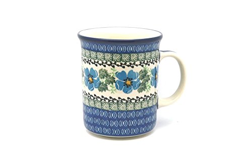 (Polish Pottery Mug - Big Straight Sided - Morning Glory)
