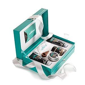 mCaffeine Coffee Mood Skin Care Gift Kit   Tan Removal, Deep Cleanser   Body Scrub, Face Wash, Face Scrub, Face Mask…