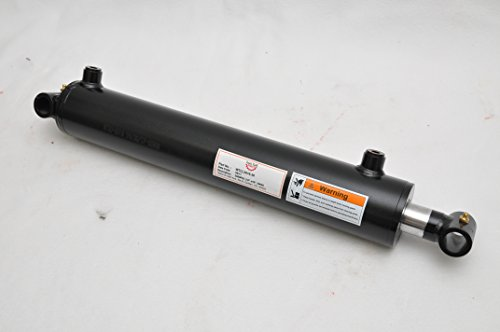 "3"" Bore x 16"" Stroke Welded Cross Tube Tie Rod Cylinder 3000 PSI, SAE Ports"
