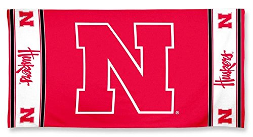 (WinCraft NCAA Nebraska Cornhuskers Beach Towel, Team Color, One Size)