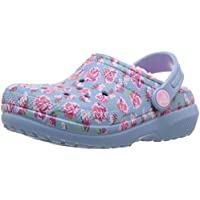 Crocs Kids' Boys and Girls Classic Graphic Fuzz Lined Clog Shoe, Indoor or Outdoor Warm Toddler Slipper Option