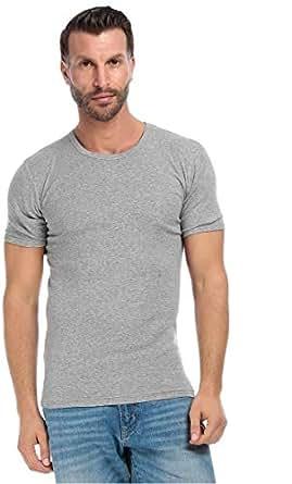Mark-On T-Shirt For Men - L, Gray