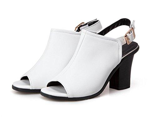 YE Damen Slingback Sommerstiefeletten Peep Toe High Heels