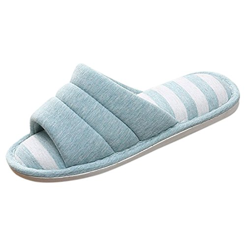 Home Slippers YUENA CARE Non Open Cotton 2 Slip Couple Sandals Toe 5pE4qRnEw