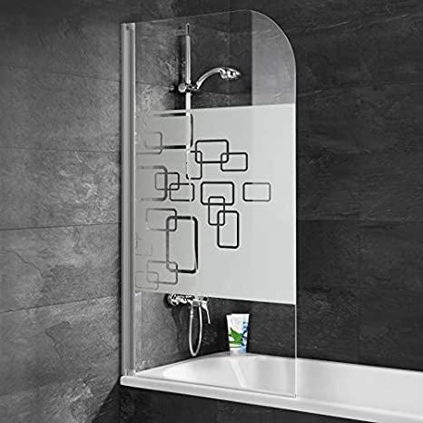 Pare bañera rabattable Schulte, mampara de bañera plegable 80 x 140 cm, pantalla de bañera 1 contraventana giratoria, pare-douche Décor softcube – Perfil Alu Nature: Amazon.es: Bricolaje y herramientas