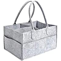 Baby Diaper Caddy Organiser Foldable Portable Nappy Caddy with Adjustable Compartments Designed to Accommodate All…