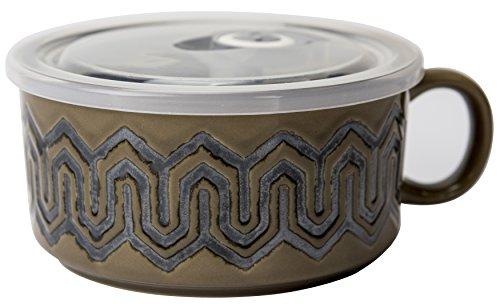 Boston Warehouse 22-Ounce Souper Bowl Sand Maze Stoneware Mug with (22 Ounce Bowl)