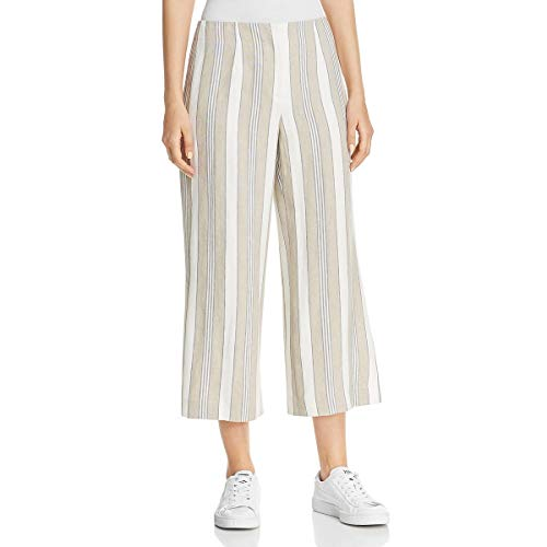 Lafayette 148 New York Womens Casual Linen Cropped Pants Taupe 2 ()