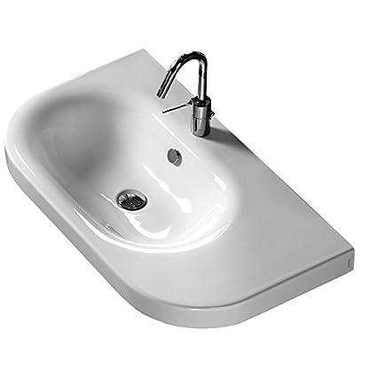 Lavabo Sospeso Per Bagno Moderno Modello Daytime Cm 86 Sinistro Di