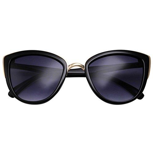 grinderPUNCH Womens Flash Color Mirror Revo Lens Oversized Cat Eye Sunglasses - Grinderpunch Sunglasses