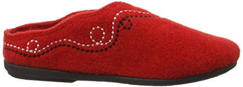 Pantofole Paddy Womens Mule Pantofole Rosso