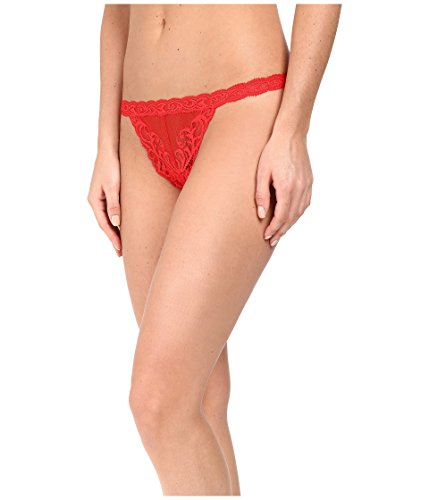Natori Women's Feathers Thong, Real Red, M