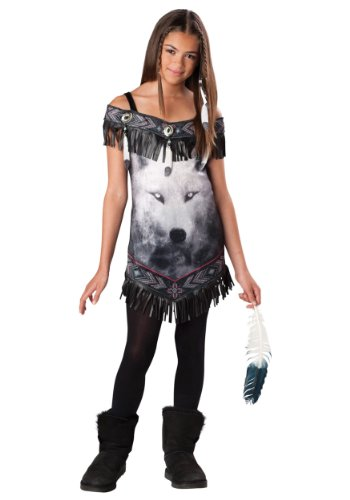 [Tribal Spirit Costume - Large] (Wolf Halloween Costumes)