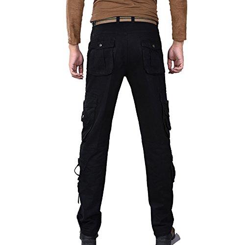 Ceinture Pantalon De Sans Noir Allthemen CargoMultipoches 13 Homme Style Travail LRj45A