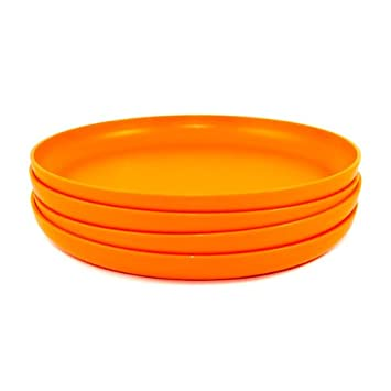Tupperware Radiance Dinner Plates 4 Piece Set Orange  sc 1 st  Amazon.com & Amazon.com: Tupperware Radiance Dinner Plates 4 Piece Set Orange ...
