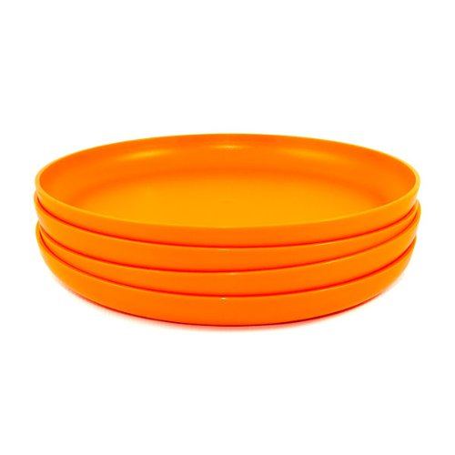 Tupperware Radiance Dinner Plates 4 Piece Set Orange