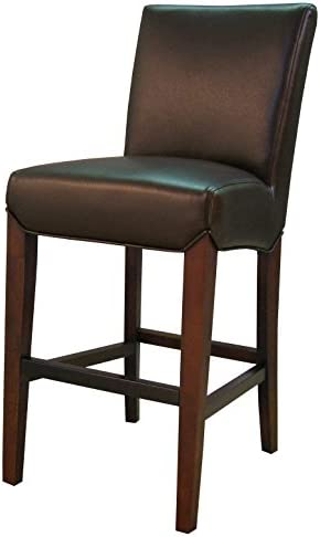 New Pacific Direct Milton Bonded Leather Counter Bar Counter Stools, Coffee Bean