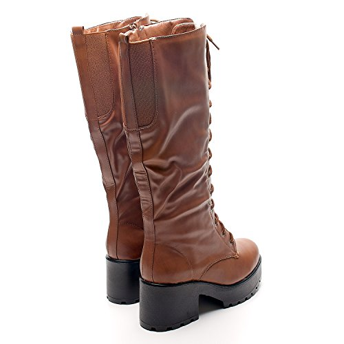 Footwear Sensation - Botas para mujer - Brown Lace Up