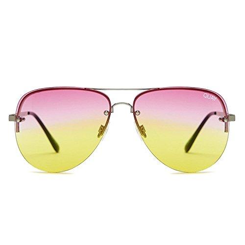 Quay Australia MUSE FADE Women's Sunglasses Jasmine Aviator - - Tillys Sunglasses Womens