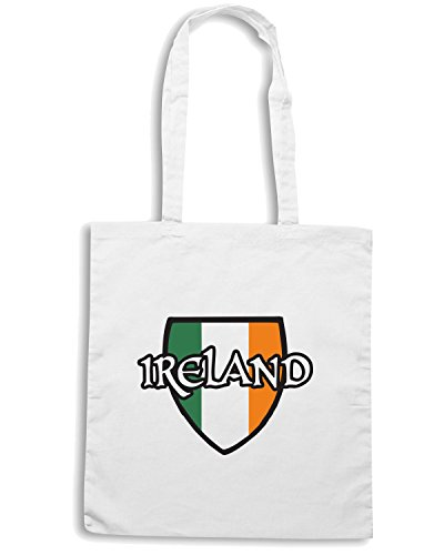 T-Shirtshock - Bolsa para la compra TIR0251 Ireland Blanco
