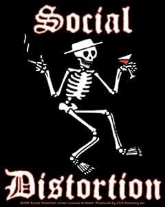 "SOCIAL DISTORTION distorsión Skeleton Esqueleto STICKER ETIQUETA, Officially Licensed Products Classic Rock Artwork, 5"" x 4.3"" - Long Lasting for Any Surface Sticker Etiqueta DECAL CALCOMANIA"