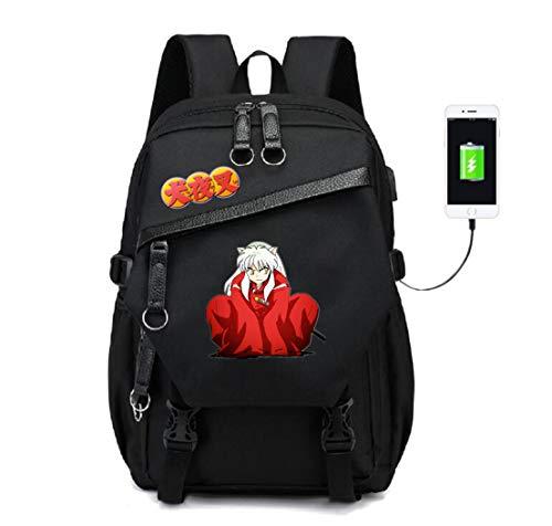 (YOYOSHome Anime Inuyasha Cosplay Bookbag Backpack School Bag with USB Charging Port)
