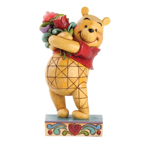 Enesco Disney Traditions by Jim Shore Winnie The Pooh with Flowers Figurine, 6.375-Inch ()