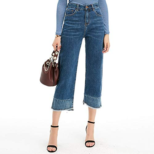 larghe casual gambe Blu profondo all'ingrosso L signore Jeans jeans MVGUIHZPO jeans XL jeans donna donne 4H1AAw