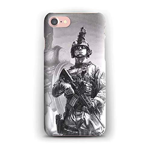 (Army Ranger Chest Tattoos Soft Gel Case for iPhone 7 - Create Your iPhone 7 Case with Army Ranger Chest Tattoos Printed)