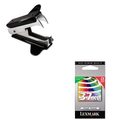 KITLEX18C2180UNV00700 - Value Kit - Lexmark 18C2180 37XL High-Yield Ink (LEX18C2180) and Universal Jaw Style Staple Remover (UNV00700)