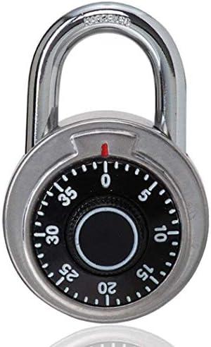 GXWLWXMS ターンテーブルパスワードロック安全ロック大型ステンレス鋼ラウンドロータリーラウンドロックプリセット固定パスワード盗難防止南京錠