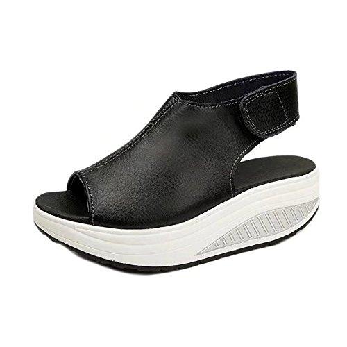 - COPPEN Women Sandals Shake Boho Summer Soft Thick Bottom HIGT Heel Shoes