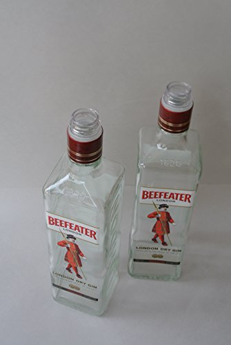 (Beefeater Gin London Liquor Bottle Lot of 2 - two empty bottles (750ml, Standard)