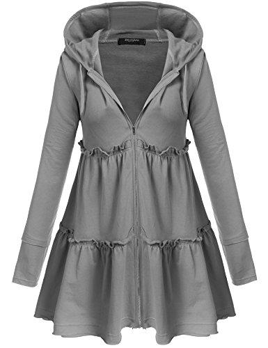 Zeagoo Women Cotton Coat (X-Large, Dark Grey)