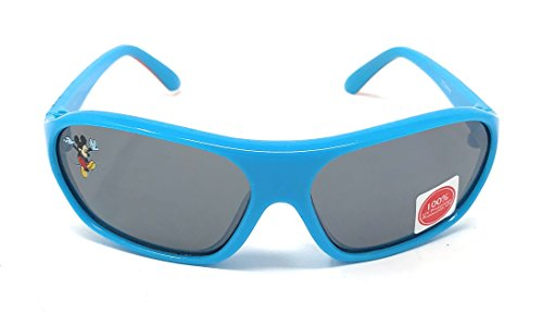 Disney Junior Kid's Mickey and the Roadster Racers Sunglasses - Mickey Mouse Character with Turquoise Frame - 100% UV - Glasses Mickey Mouse