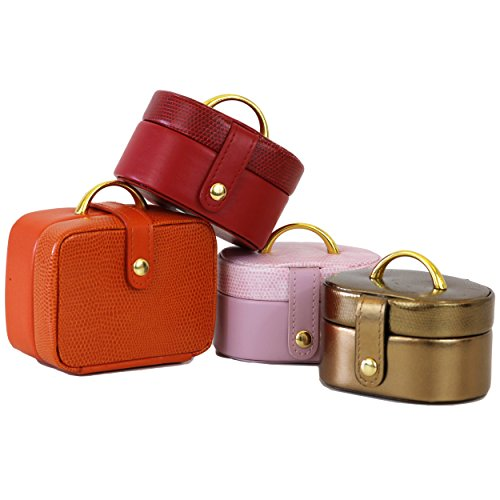 SET2240 Set of 4 Jewelry Boxes Mini Cute Pink Red Bronze Orange