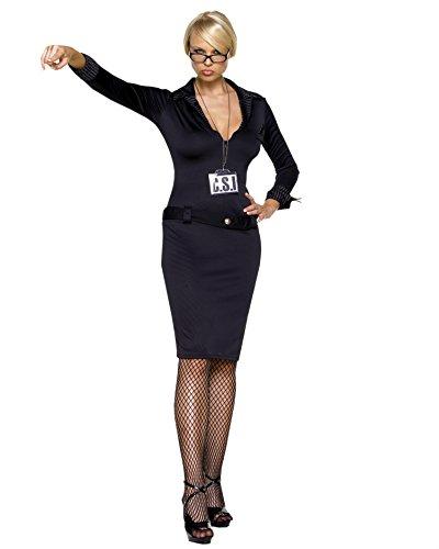 Csi Girl Costume (CSI Adult Costume - Small/Medium)